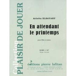 ELSAYARY Arletta En attendant le printemps Flûte traversière et piano