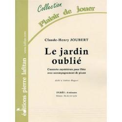 JOUBERT Claude-Henry Le Jardin oublié, concerto mystérieux pour flûte et piano