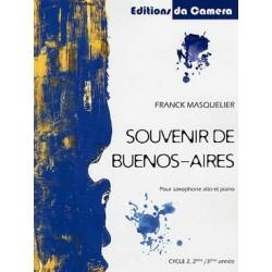 MASQUELIER Franck Souvenir de Buenos-Aires Saxophone et piano