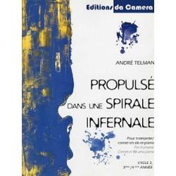 TELMAN André Propulsé dans une spirale infernale trompette et piano