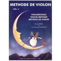 Bruno GARLEJ et Jean-François GONZALES Méthode de Violon - Volume 2