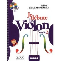 Valérie Bime-Apparailly Je débute le Violon - Volume 2 methode violon