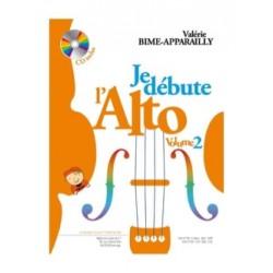 Valérie Bime-Apparailly Je débute l'Alto - Volume 2 Avec CD.