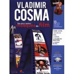 Vladimir Cosma Ses Plus Belles Musiques de Film AVEC CD. 13 pièces pour violon avec piano accompagnement
