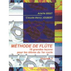 BIGET - JOUBERT Méthode de Flûte Volume 2 Méthode de Flûte traversière - Partition Editions Combre