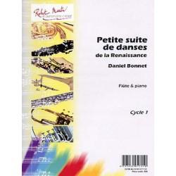 Bonnet petite suite de danses de la renaissance flute et piano