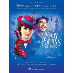 Mary Poppins Returns PVG piano vocal guitare