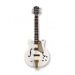 Electric Guitar white/gold magnetic