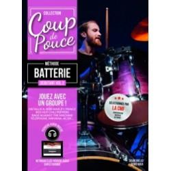 Denis Roux Silvio Biello: Débutant - Batterie, Volume 2 - Partitions et CDs Coup De Pouce