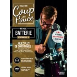COUP DE POUCE Méthode Batterie Débutant Volume 1