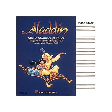 Aladdin cahier de musique 6 grosses portees