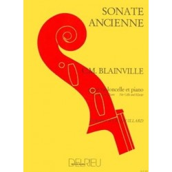 SONATE ANCIENNE BLAINVILLE VIOLONCELLE PIANO