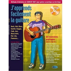 HUET J'APPRENDS FACILEMENT LA GUITARE FORMAT POCHE