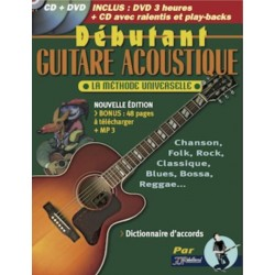 JJREBILLARD REBILLARD DEBUTANT GUITARE ACOUSTIQUE + CD ET DVD