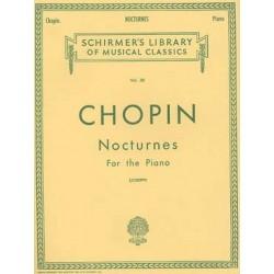 CHOPIN: NOCTURNES PIANO SCHIRMER