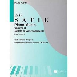 SATIE : MUSIQUE POUR PIANO VOL. 3 Piano