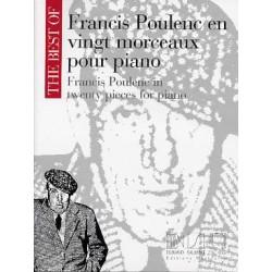 POULENC : EN 20 MORCEAUX Piano