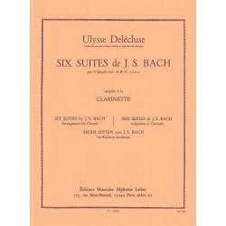 BACH 6 Suites pour Violoncelle Transcrites pour Clarinette