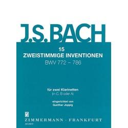 BACH 15 Zweistimmige Inventionen Für 2 Klarinetten - 2 Clarinettes