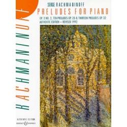 RACHMANINOV : PRELUDES POUR PIANO Piano