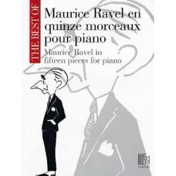 RAVEL : EN 15 MORCEAUX Piano