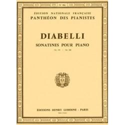 DIABELLI : SONATINES OP. 151 ET 168 Piano