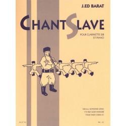 Joseph-Edouard BARAT Chant slave Partition - Clarinette et Piano