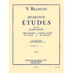 BLANCOU Sélection/arrangt DELÉCLUSE Jacques 40 Études (rév. Delécluse) - Vol. 1 : N° 1 à 20