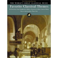 The World's Great Classical Music: Favorite Classical Themes - Easy/Intermediate Piano~ Album Instrumental (Piano Solo)