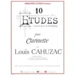 Louis Cahuzac 10 Etudes et petite pièce de déchiffrage