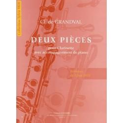 De Grandval Clémence Deux Pièces Clarinette et Piano