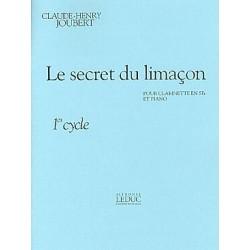 JOUBERT Claude-Henry Le Secret du limaçon clarinette et piano