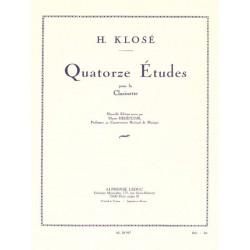 Hyacinthe Klosé 14 Etudes - Clarinette