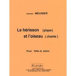 Le Hérisson (pique) et l'Oiseau (chante) Partition Flûte et Piano