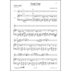 Alain Lopez Orange Tango clarinette et piano