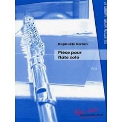 Raphaèle Biston Pièce pour flute seule