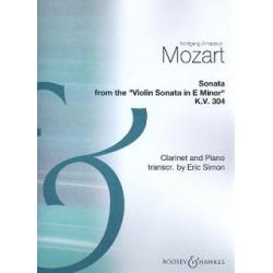 Wolfgang Amadeus Mozart Sonata K.304 from the Violin Sonata in E Minor