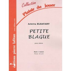 Arletta Elsayary Petite blague Partition - Piano
