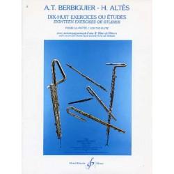 A.T BERBIGUIER - H.ALTES : DIX-HUIT EXERCICES OU ETUDES