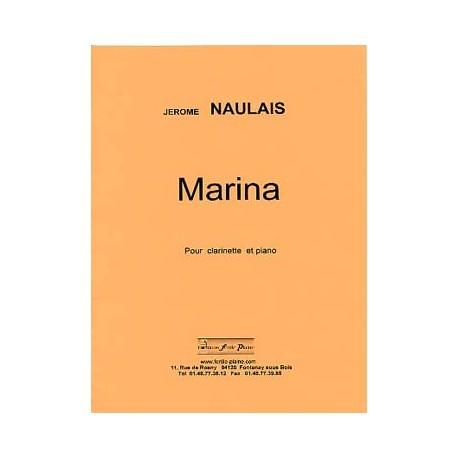 NAULAIS Jérôme Marina Partitions Clarinette et piano
