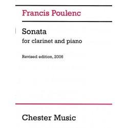 POULENC Sonate pour clarinette et piano Edition révisée 2006 Partition - Clarinette et Piano