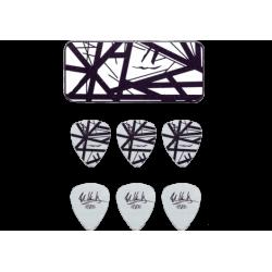 DUNLOP Boîte de 6 médiators Black/White, 0,60mm