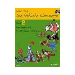 Die FRÖHLICHE KLARINETTE VOL2 CLARINETTE ET CD
