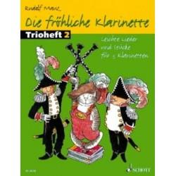 Die FRÖHLICHE KLARINETTE TRIOHEFT 2 3 CLARINETTES