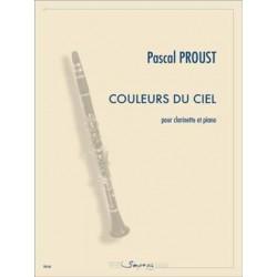 PROUST COULEURS DU CIEL CLARINETTE ET PIANO