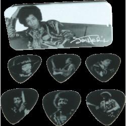 Dunlop Jimi Hendrix Boîte de 6 Silver Portrait Heavy