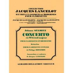 STAMITZ JOHANN CONCERTO SIbMAJEUR CLARINETTE ET PIANO