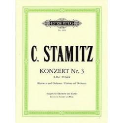 STAMITZ CARL CONCERTO 3 CLARINETTE ET PIANO