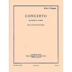 TOMASI CONCERTO CLARINETTE ET PIANO