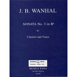 VANHAL SONATA 3 CLARINETTE ET PIANO